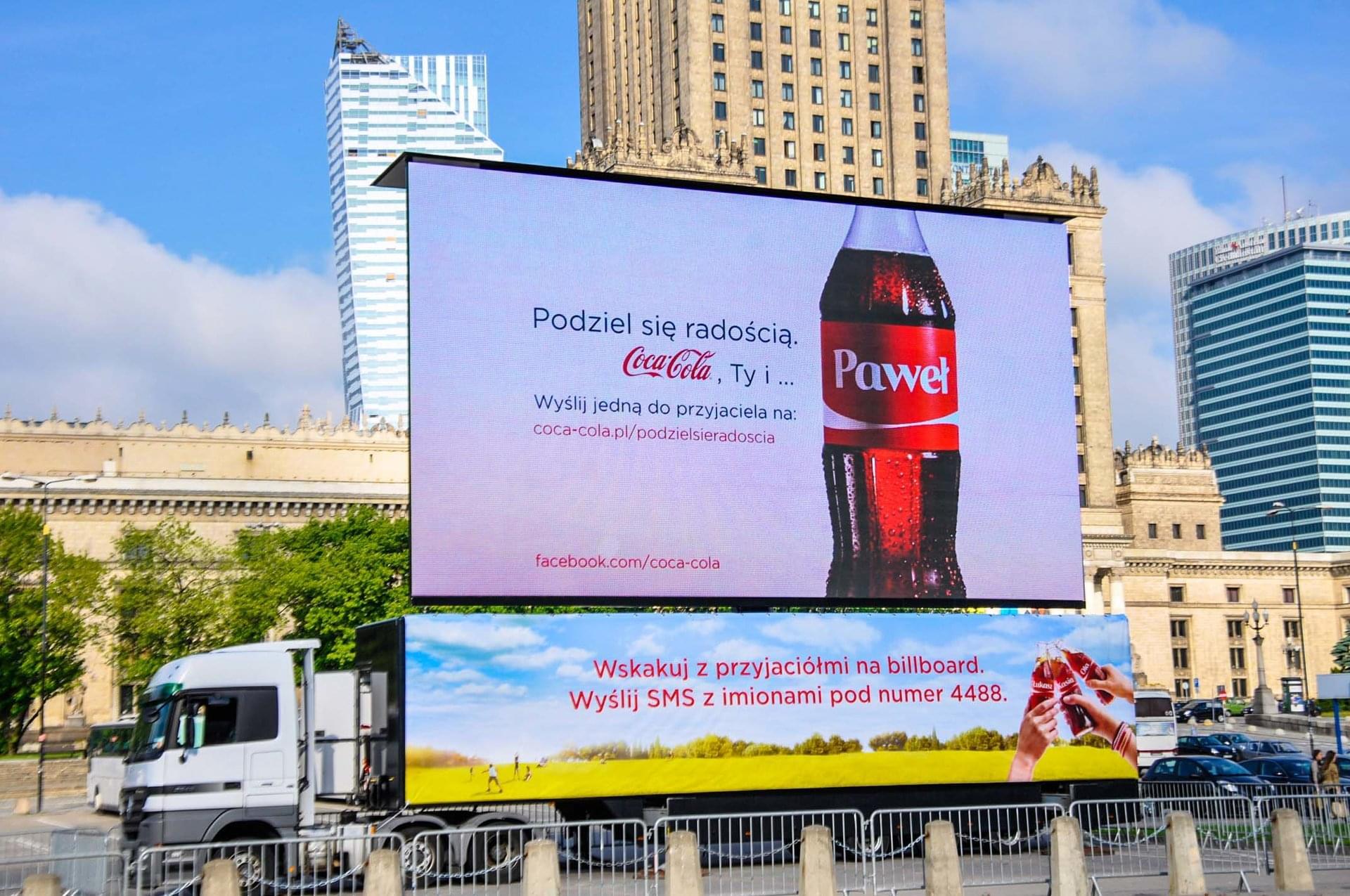 Warsaw Coca Cola campaign